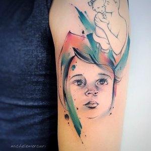 Rostro hijo por Michele Mercuri