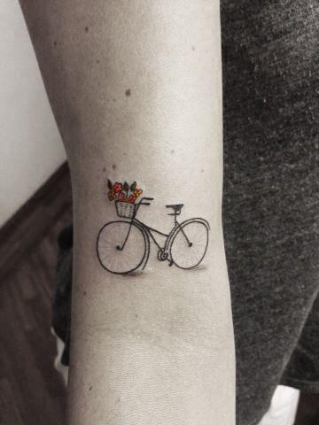 Bicicleta con flores