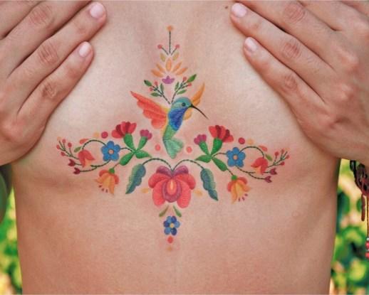 Colibrí y flores por María Fernanda Ramírez