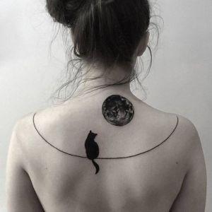 Gato mirando la luna