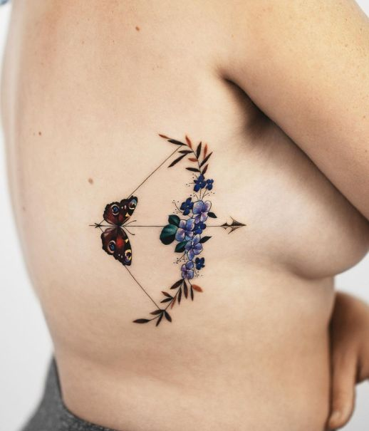 Arco y flecha mariposa, signo Sagitario por Rey Jasper