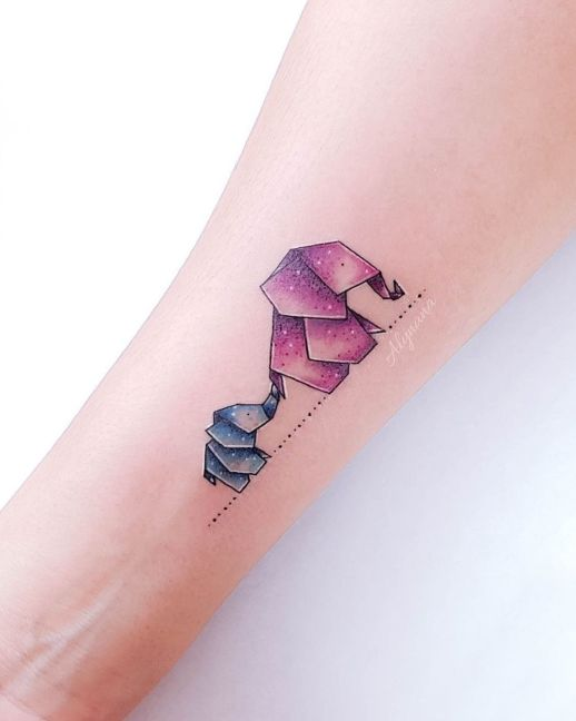 Mamá elefante e Hijo por Alynana Tattoos