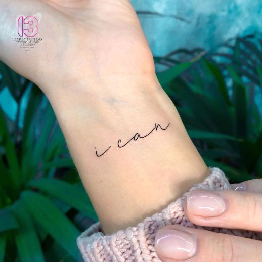 Frase: I can por Risha Tattoo