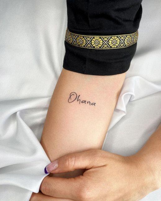 Frase: Ohana por Alejo Gómez Tattoo Artist