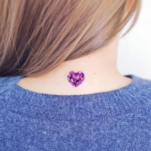 Diamante corazón por Studio by Sol, Song E. Tattoo