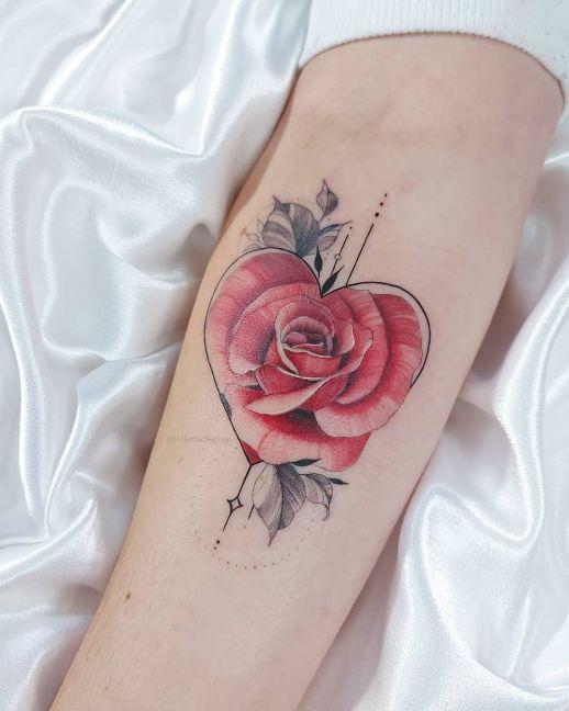 Flor Rosa en forma de Corazón por Jacke Michaelsen