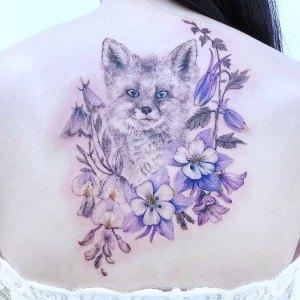 Zorro y flores por Chaewha Tattoo