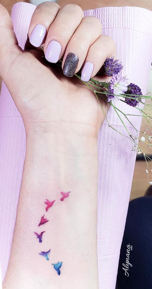 Aves por Alynana Tattoos