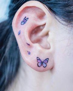 Mariposas revoloteando por Tattooist Color B