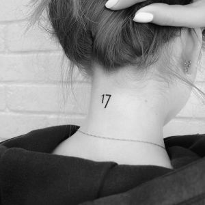 Número 17 por Risha Tattoo