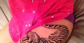 tatuaje de tigre para mujer