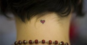 Tatoo heart neck