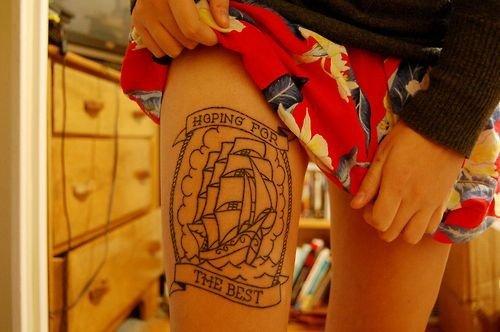 tatuaje de un barco