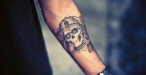 tatuaje calavera brazo