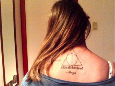 Tatuaje reliquias de la muerte