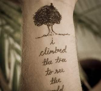 tree phrases tattoo