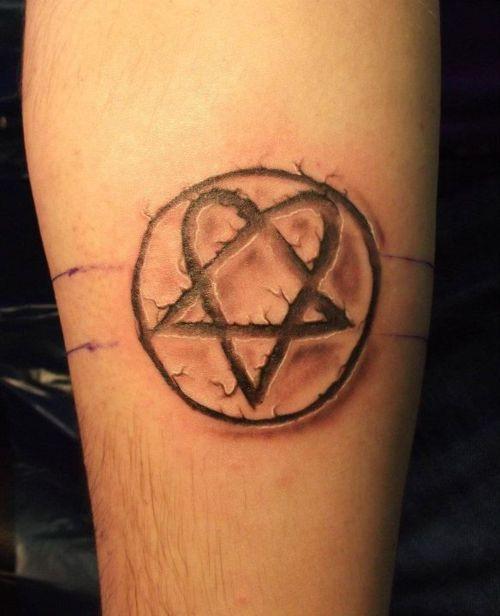 heartagram tattoo