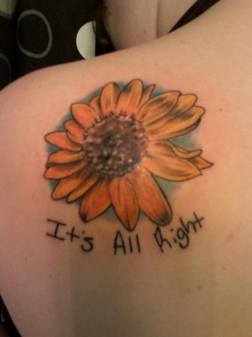 flower back tattoo