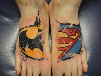 Batman and Superman tattoos - Tatuajesxd
