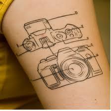 Camera SLR tattoo