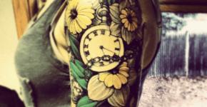 tatuaje reloj brazo