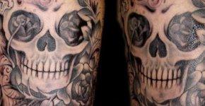 tatuaje calavera hombro