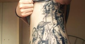 zombie tattoos abdomen