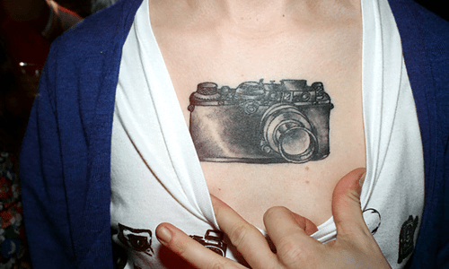 photographer tattoo