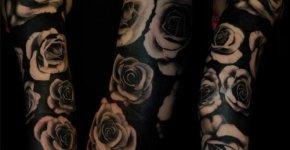 Tattoo rosas blancas