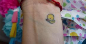 tatuaje patito