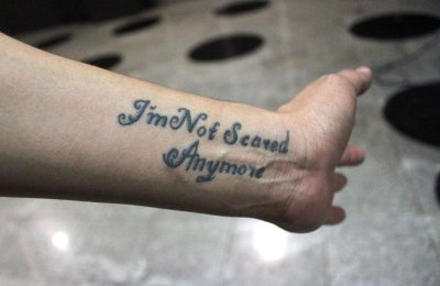Im not scared anymore tattoo