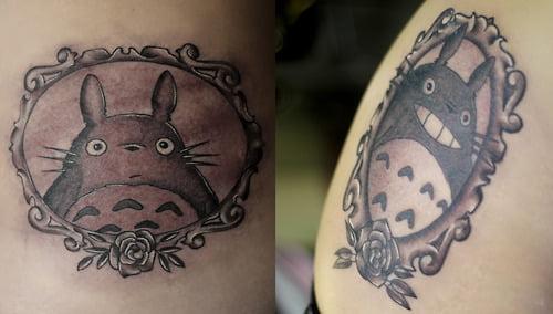 tatuaje de totoro