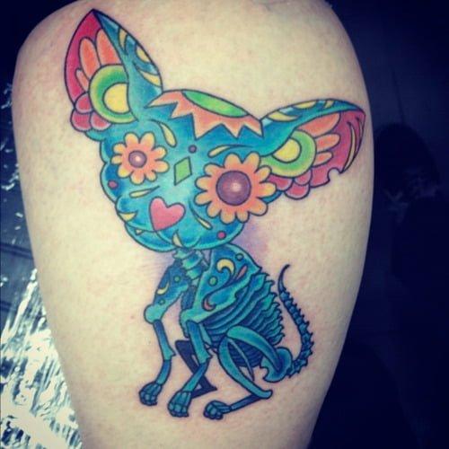 Tatuaje Estilo Día De Muertos