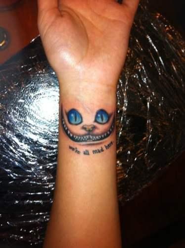 tatuaje gato de cheshire Tim Burton
