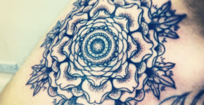 Tatuaje copo de nieve
