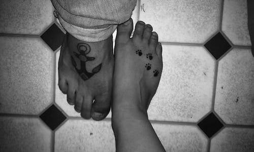 Tatuajes en los pies