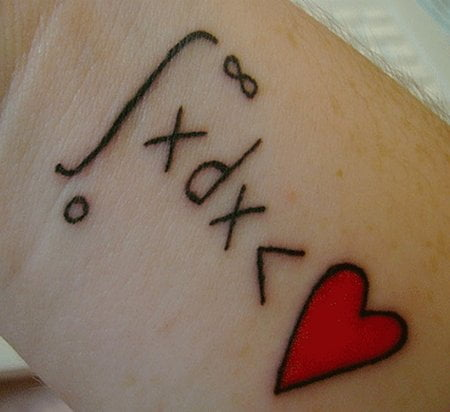 Tatuaje matematicas y amor