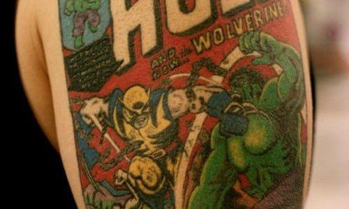 Hulk Comic Tattoo