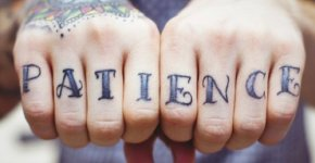 Tatuajes paciencia