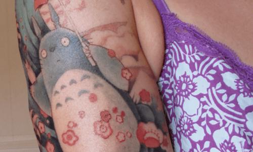 Totoro arm tattoo