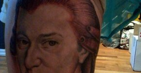Mozart Amadeus Tattoo