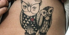 couple owl tattoo