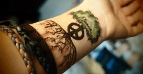 Tatuaje de árbol en la muñeca