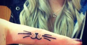 Tatuaje carita de gato