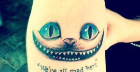 Tatuaje gato de Cheshire