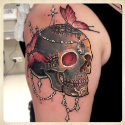 Black Skull tattoo