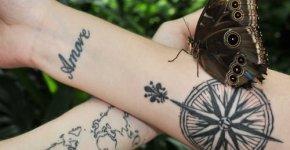 Tatuaje de brujula