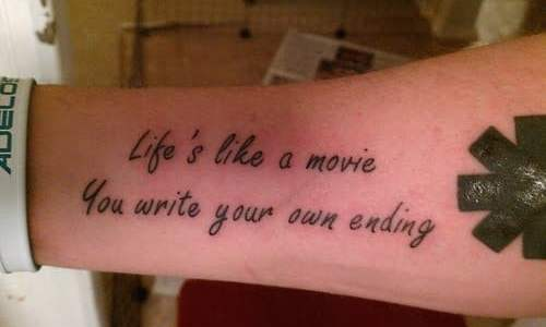 Tatuaje Life's like a movie