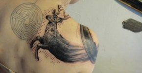 Surreal Deer tattoo