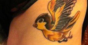 Yellow Bird tattoo